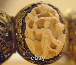 Terrific Qing Period Bracelet Chinois De Haute Qualité Or Vermeil Sterling Silver