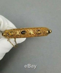 Tiger Bracelet Argent Eye Bracelet Chinois Vintage Gilt Vermeil Filigrane
