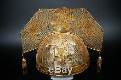 Une Collection Fine Chinoise Ming 15thc Pure De Solid Gold Et Silver Phoenix Coronet