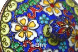 Vase À Urne En Forme De Cornet De Prunier Dragon En Argent Sterling Doré À La Chinoise, 734 Grammes
