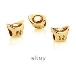 Véritable Pandora Chinois Lingot D'argent Charm Or 14k Vermeil Plaqué 791300