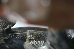 Vieille Exportation Chinoise Émaillée En Argent Massif Tigre Figure